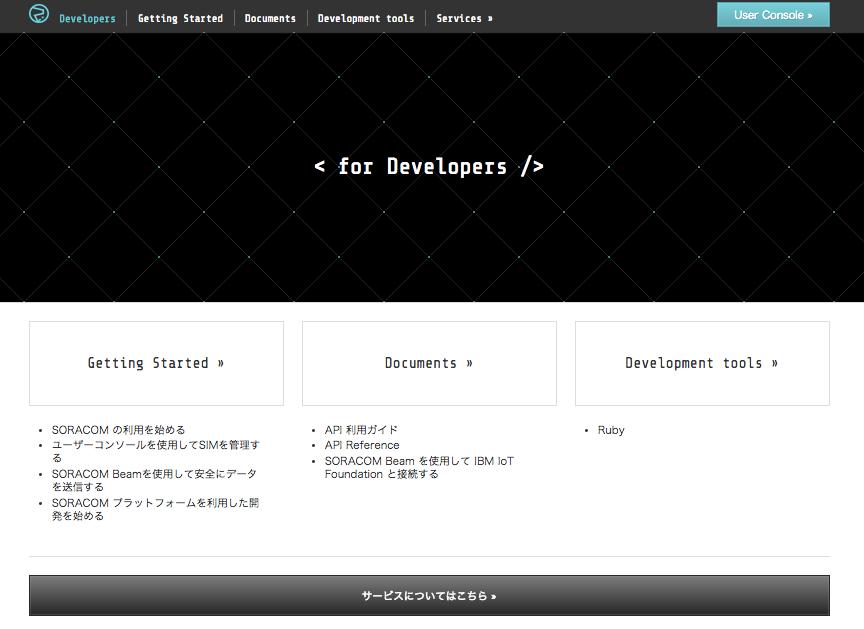 開発者サイト